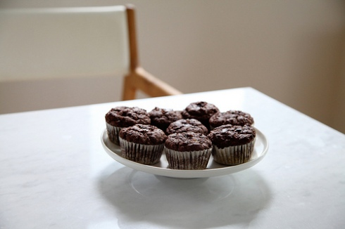The 10 Cent Designer's Amaranth Chocolate Banana Muffins