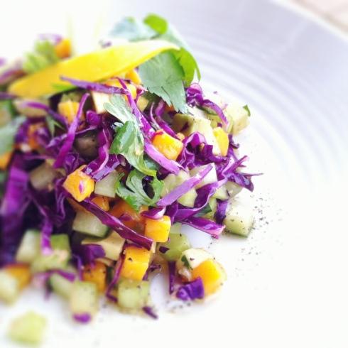 Celery, Cucumber, Mango Salad